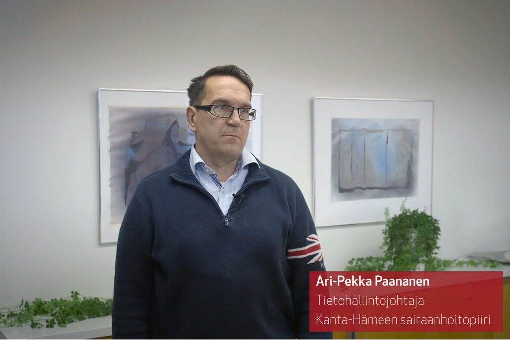 Person giving an interview