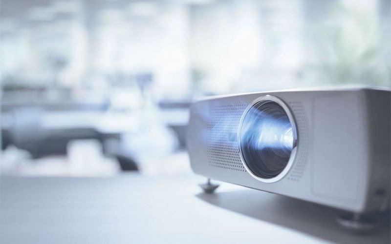 Closeup of a projector